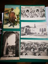 Vintage antique old postcards for Tangier during international rule+colonial era