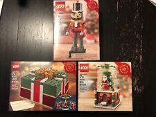 LEGO Seasonal Holiday 40223 Snowglobe 40254 Nutcracker 40292 Christmas Box