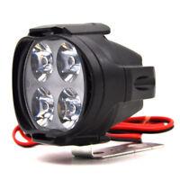 12V 12W Universal Motorcycle 4 LED Fog Spot Motorbike Front Headlight Light Lamp