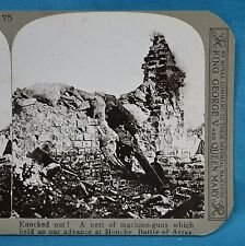 WW1 Stereoview Knocked Out Nest Of Machine Guns Monchy Arras Realistic Travels