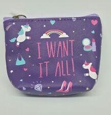 Unicorn Purse Zip Coin Childrens Kids Girls Wallet Keepsake School Pouch Bag