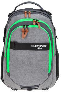 Schulrucksack Rucksack Jungen Mädchen Elephant Signature Hero Daypack + Heftbox