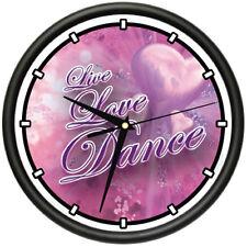 LIVE LOVE DANCE Wall Clock dancer dancing salon ballroom dance gift