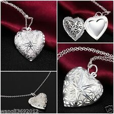 Silver Women Fashion Necklace Ladies Jewellery Charm Crystal Pendant Chain