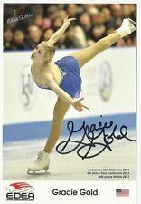 USA GRACIE GOLD  Signed 4x6 Promo 2014 Sochi Olympics