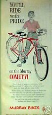 1960 Murray Comet VI Bicycles Boys Model Candy Apple Red Bike Memorabilia Art AD
