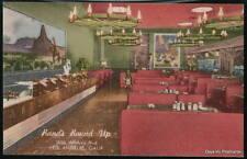 LOS ANGELES CA Rand's Round Up Restaurant Vtg Postcard