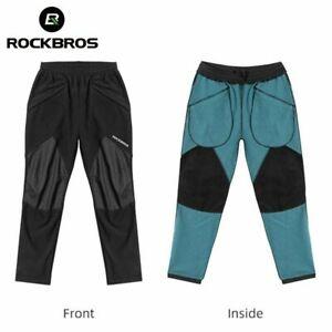 ROCKBROS Men MTB Bicyle Cycling Warm Pants Windproof Pants Sport Riding Trousers