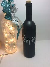 Hand Painted Glass Bottle Simplify