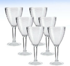 MARTHA STEWART Collection Set of (6) Outdoor Textured Acrylic Stem Glasses