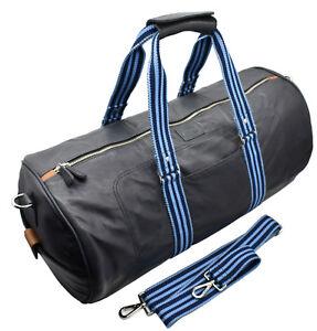 Men's Genuine Leather Large Travel Gym Sports Weekend Overnight Bag LondonWear