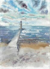 original drawing 29 x 40 cm 151KT art samovar watercolor landscape 2020