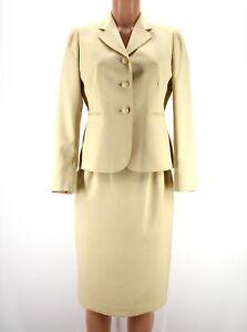 Le Suit Women Two Piece Skirt Suite Tan Beige Career Lined 8 Petite New $288