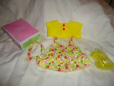 """American Girl FRUITY FUN OUTFIT Dress Shoes Sweater for 18"""" DOLL"""