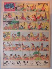 Mickey Mouse Sunday Page by Walt Disney from 6/1/1941 Tabloid Page Size