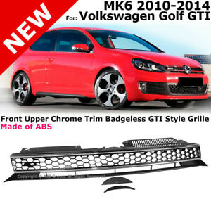 Front Grille GTI Style MK6 Gollf GTI 2010-2014 Honeycomb Mesh Chrome