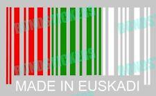 Vinilo de corte pegatina MADE IN EUSKADI sticker decal racing