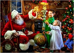 Father Christmas Santa Poster Art Print A0 A1 A2 A3 A4 Maxi