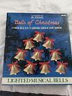Vintage Mr. Christmas Bells of Christmas 10 Light Musical Brass Bell - 15 Songs