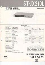 SONY Service Manual Konvolut ST-JX210L JX205L/220L JX320L/JX520L - B2081