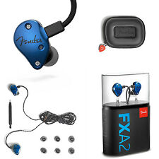 Fender FXA2 Pro In-Ear Monitors Blue Headphones Universal Fit And Carrying Case!