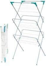 3 Tier Foldable Folding Clothes Deluxe Concertina Airer Laundry Dryer Towel Baby