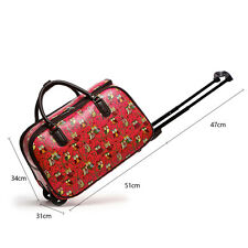 Leahward Small Size Women's Holdall Luggage Ladies DESIGNER Canvas or PU Leather