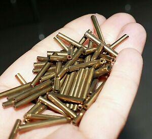 50x Dark Gold Czech Glass Bugle Tube Beads Long 20mm Spacer Beading Supplies