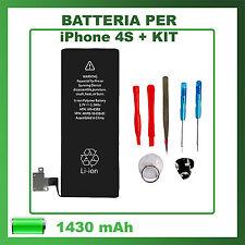 BATTERIA ORIGINALE IPHONE 4S 1430mAh CACCIAVITI ZERO CICLI
