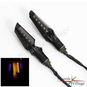 2PCS Universal 10mm Motorcycle LED Turn Signal Lights Lamps - Plastic