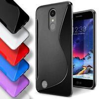 LG K10 2017 Silicone Gel S Line Case Cover Ultra Thin Slim Back Bumper