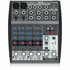 Behringer 802 XENYX Small Format Mixer, 8 Input 2 Bus Mixer | Free UK Delivery
