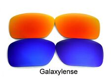 Galaxy Replacement Lenses For Oakley C Wire New 2011 Blue&Red Polarized 2PS