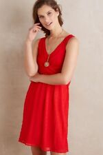 $138 Anthropologie Mia Dress   new S  red