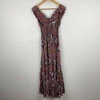 Keshet Womens Dress S/M Multicoloured Floral Sleeveless Stretch