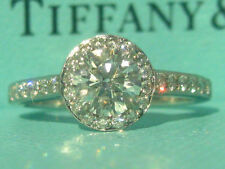 TIFFANY & CO. PLATINUM EMBRACE ENGAGEMENT .81 TCW DIAMOND RING CERTIFICATE BOXES