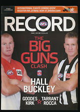 2006 AFL Football Record Sydney Swans vs Collingwood Magpies Round 12 unmarked