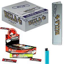 CARTINE LUNGHE RIZLA SILVER Slim 1600 (Box) + Filtri di carta Enjoy Freedom 1600