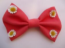 PRETTY SUMMER DAISY- DOG BOW TIE/  DOG COLLAR ACCESSORY- ELASTICATED FITTING