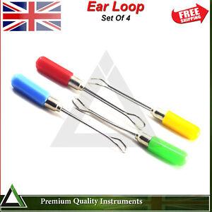 Ear Wax Remover Loop Cleaner Earpick Curette Remover Medical Tools Set Of 4