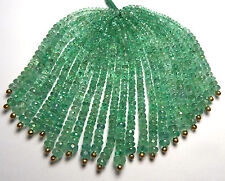 "2.5"" Strand EMERALD 2.5-4mm Faceted Rondelle Beads NATURAL"