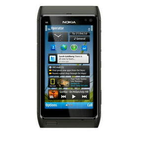 Original Nokia N8-00 - 16GB - Black (Unlocked) Smartphone WIFI GPS Black 12 MP