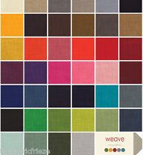 MODA WEAVE Linen Look Plain Quilting, Craft, Patchwork Cotton Fabric Fat Quarter