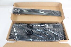 New Dell U473D USB Wired Slim Multimedia Keyboard w/ 2 USB Ports & Wrist Rest