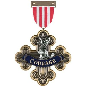 """THE WIZARD OF OZ - The Cowardly Lion Courage Medal 7"""" Prop Replica (Ikon) #NEW"""