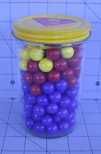 Superman Peanut Butter Jar 150 Marbles Red Blue & Yellow