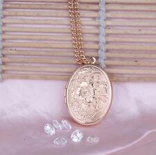 Gold Foto Medaillon Amulett Talisman Anhänger zum öffnen Halskette Medallion Neu