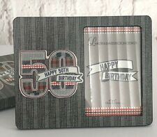 "50th Birthday Picture Frame Laura Darrington Designs Denim Collection 4""x6"" NEW"
