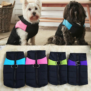 Pet Dog Puppy Clothes Coat Jacket Winter Warm Quilted Padded Puffer Small Vest