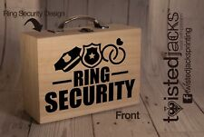 Ring Security Box Page Boy Usher Wedding Box Natural Rustic Wood Finish